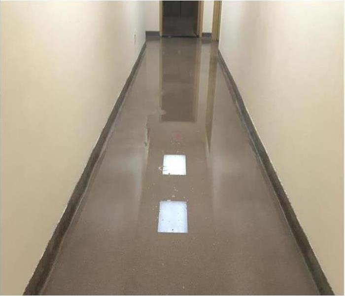 Water Leak from Storm Damage in a Commercial Building in Oxford, AL  Before