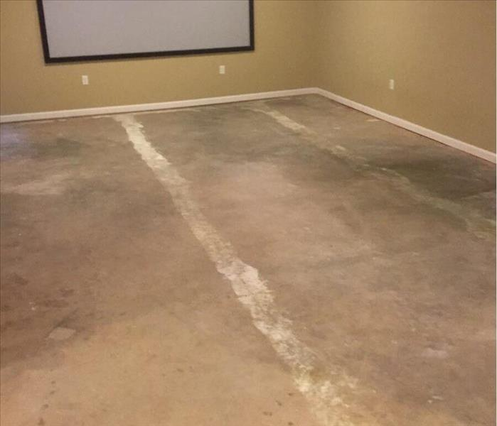 Water damage to a basement in Oxford, AL After