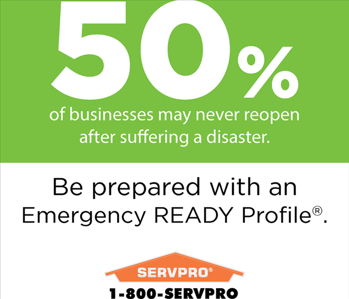 An ERP flyer about 50% of businesses never reopen after a disaster.